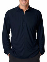 UltraClub Men's Long Sleeve Polyester Relaxed Performance Winter Pullover. 8432