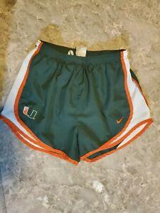 Nike University of Miami running shorts Small