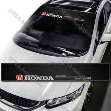 JDM HONDA Mugen Power Drift Racing Windshield Carbon Fiber Banner Decal Sticker