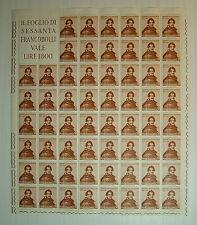 1963  ITALIA  30  lire  Gioacchino Belli  foglio  intero MNH**