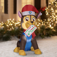 Paw Patrol 4.5 Foot CHASE Dog Christmas Holiday Airblown Inflatable NEW 2020