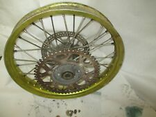 suzuki rm 250 1993 rear wheel crack in rim only usable parts hub spokes