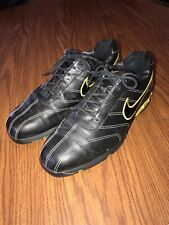 """Nike Men's """"Zoom Air� Sport Performance Black/Gold Leather Golf Shoes Size 11"""