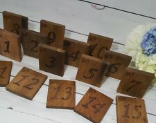 Wedding Table Numbers, Set of 20 Rustic Table Number Reclaimed/ Rustic Number