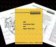 HOWARD 400 Rotavator Instruction & Spare Parts Book - USA + Foldout Diagram