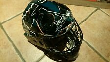 SAN JOSE SHARKS NHL hockey full size goalie helmet.Signed. Evgeni NABOKOV. New.