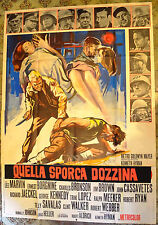 MANIFESTO ORIGINALE QUELLA SPORCA DOZZINA 67 The Dirty Dozen BRINI