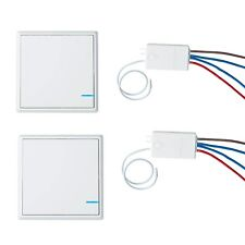 2x Wireless Smart Lamp Light Wall Switch Home Single 1 Way ON/OFF Remote Control