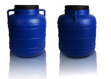 Barril plástico recipiente de almacenamiento de agua 40 L Barril Tambor Tanque de calidad alimentaria Tornillo abierto