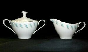 """Luxurious Lenox USA """"Rosedale"""" Covered Sugar & Creamer Unused New Condition w2s5"""