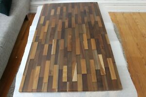 Rivertable 100/60 cm Tischplatte Teakholz   Epoxidharz Zustand: Neu