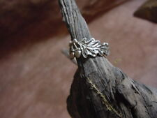 OAK leaves Acorns silver RING exclusive designs silver by Jack Brown Bonecarver