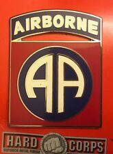 US ARMY DRESS BLUE UNIFORM COMBAT SERVICE BADGE CSIB 82ND AIRBORNE DIVISION