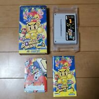 Nintendo Super Famicom - Super Bomberman 2 Boxed SFC SNES Japan NTSC-J