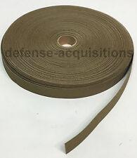 Military Elastic Webbing 1 INCH MIL-W-5664 T-2 C-1 COYOTE MilSpec - Per Yard