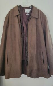 M.Julian Wilsons Mens Leather Jacket w/removable Thinsulate Liner sz-2Xlt Brown