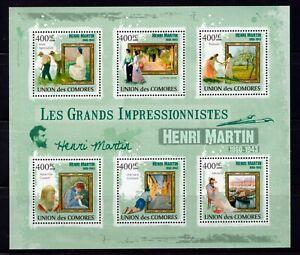 COMOROS - 2009 Impressionsts - Henri Martin, 1860-1943   M2358