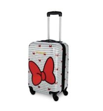 Disney Minnie Mouse Stripe Bow Tie Carry on Luggage