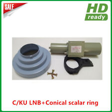 Dual Band C/Ku Combo LNBF+Conical scalar ring with LNB holder