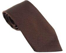 PUIG Barcelona Spain Wide Brown Polyester Vintage Necktie 1970s Imported Cergal