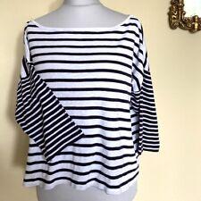 French Connection Breton Stripe Top Size XL Black & White UK 16-18