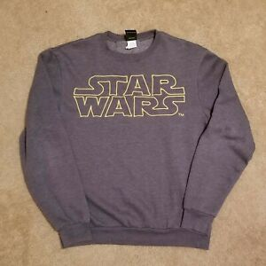 Star Wars Embroidered Sweatshirt Pullover Lucasfilm Ltd. Men's Size Small
