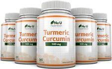 X2 Turmeric Curcumin X 365 Capsules 500mg Anti-inflammatory NU U Nutrition