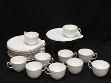 VINTAGE 10 pcs SET GLADSTONE STAFFORDSHIRE FINE BONE CHINA DESSERT PLATE & CUP