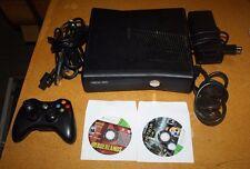 XBOX 360 S CONSOLE 4GB BUNDLE W/ 2 GAMES FREE SHIPPING