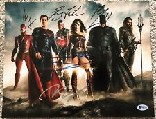 Justice League Cast Signed 11x14 By 6 Gadot Affleck Cavill Miller Beckett LOA