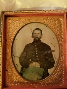 Union Civil War Corporal Soldier From Missouri Tintype Picture