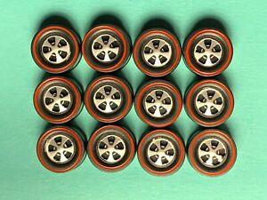 Hot Wheels Redline US WHEEL TIRE Lot of 12 MEDIUM DEEP DISH Bearing Style, NEW!