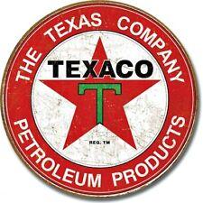"Texaco Gasoline Petroleum 12"" Round Tin Sign Nostalgic Metal Sign Retro Decor"