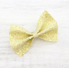 Lemon Yellow sparkly glitter hair bow - Kawaii - Unicorn