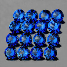 10cts Top Color Natural 3mm Blue Sapphire Diamond Cut Loose Gemstone