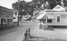 """1930's Dock Square Kennebunkport Maine Red Dragon Ocean Ave. 4 x 6"""" Photo"""