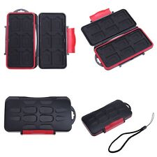 12 SD + 12 TF Cards Storage Box Memory Card Case Waterproof Shockproof Holder