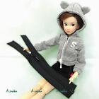Bjd Doll Dress Sewing Making DIY Material 13cm Open End Mini Zipper BLACK 2pcs