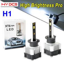 2x H1 CREE COB LED Car Headlight Kit 52W 7200LM High Low Beam Bulbs 6500K White