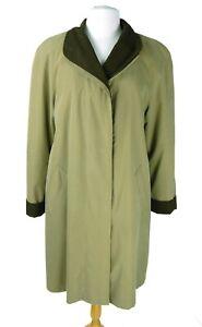 Gallery Beige Tan Womans Rain Over Coat Sz Medium M  Removable Lightweight Liner