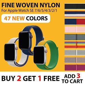 【Woven Nylon Band】Apple Watch iWatch SE 7 6 5 4 3 2 Sport Strap Loop 38/40 42/44