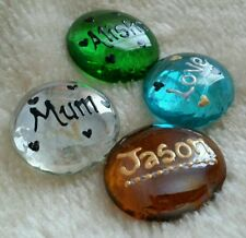 Personalised Glass Name Pebbles Love/Friends/Family/Gifts