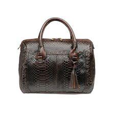 BO081PI Python Boston bag- women python purse by Cuadra boots