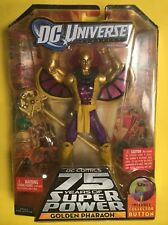 "DC Universe GOLDEN PHAROAH 6"" Figure Validus BAF SUPER POWERS STAND Mattel"