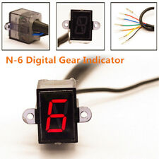 Universal LED Motorcycle Gear Indicator N-6 Speed Shift Clutch Lever Gauge Valid