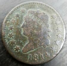 New Listing1814 Srosslet 4 Classic Head Turban Large Cent Vg Very Good Dets Penny Coin Eac
