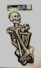 """Beistle Nite Glo 33"""" Skeleton Halloween Decorations Jointed RETIRED 1970 NOS"""