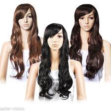 Perruques et toupets noirs ondulés pour femme