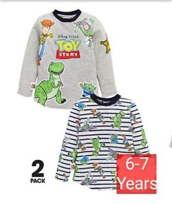 Boys Long Sleeved T-shirts 2 Pack Toy Story 6-7yrs (122cm) NEW FREE P&P