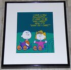 PEANUTS CHARLIE BROWN SALLY FRAMED 1980s POSTER PRINT PHILOSOPHY